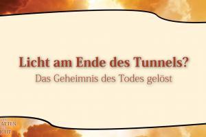 6 Licht am Ende des Tunnels?  VOM SCHATTEN ZUM LICHT Christopher Kramp